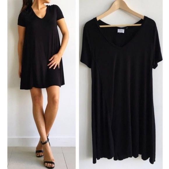 960a8337 Zara Dresses | Trafaluc Black Short Sleeve Shirt Dress | Poshmark